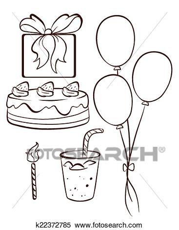 birthday drawing pictures ; a-simple-drawing-of-a-birthday-clipart__k22372785