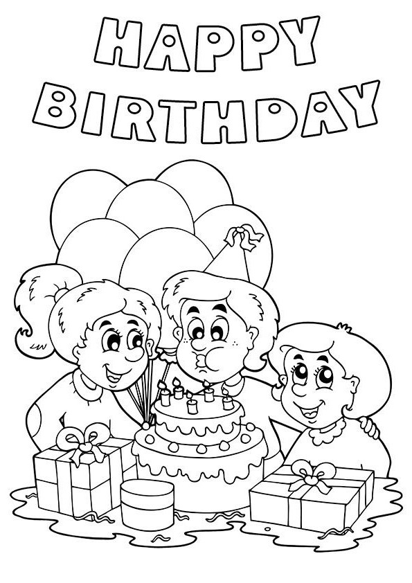 birthday drawings for friends ; black-and-white-birthday-friends-clip-art-print