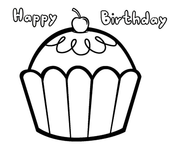 birthday easy drawings ; easy-happy-birthday-cupcake-coloring-pages