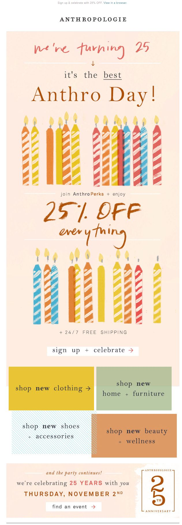 birthday email sign up ; 9ca08cab15f96d9ea127c6b1758b413b