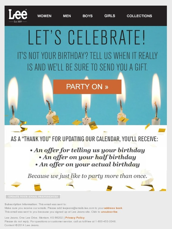 birthday emails to sign up for ; 866096df48693a807612f485e600c15e