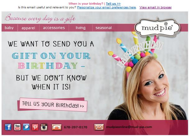 birthday emails to sign up for ; Mud-Pie-birthday-email