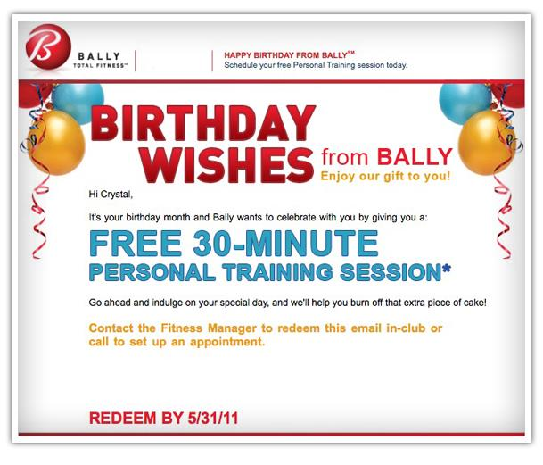 birthday emails to sign up for ; bday-bally