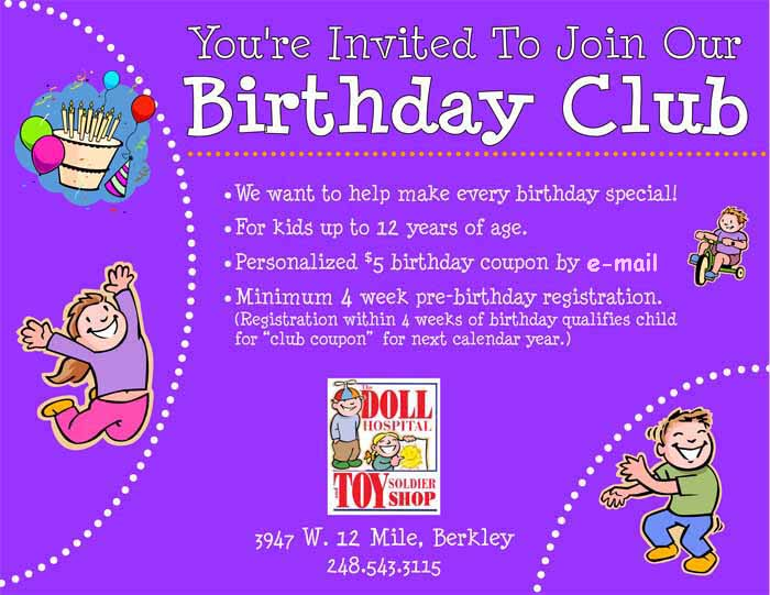 birthday emails to sign up for ; bdayclub