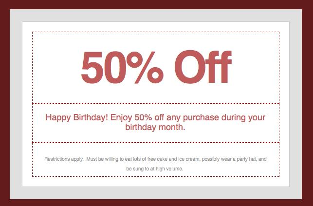 birthday emails to sign up for ; bdaycoupon1