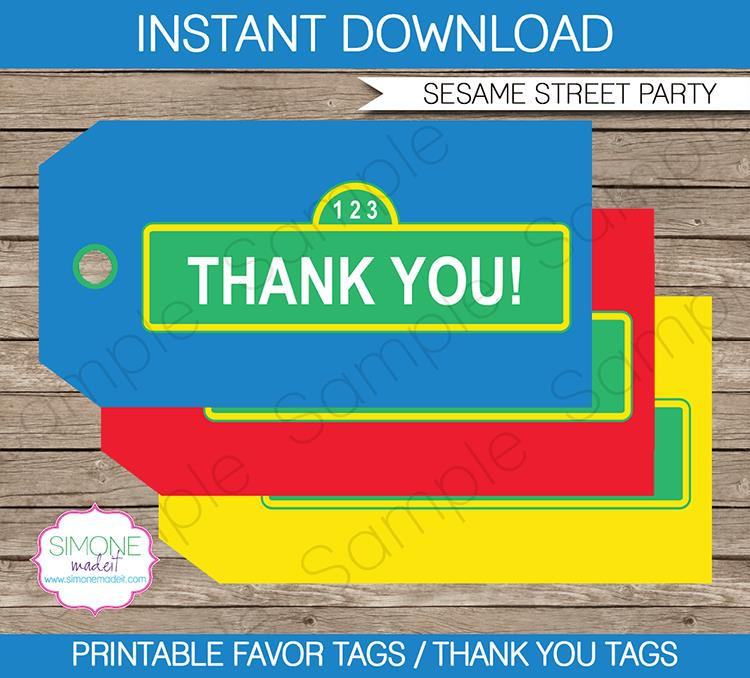 birthday favor tags template ; Sesame-Street-Birthday-Party-Favor-Tags1