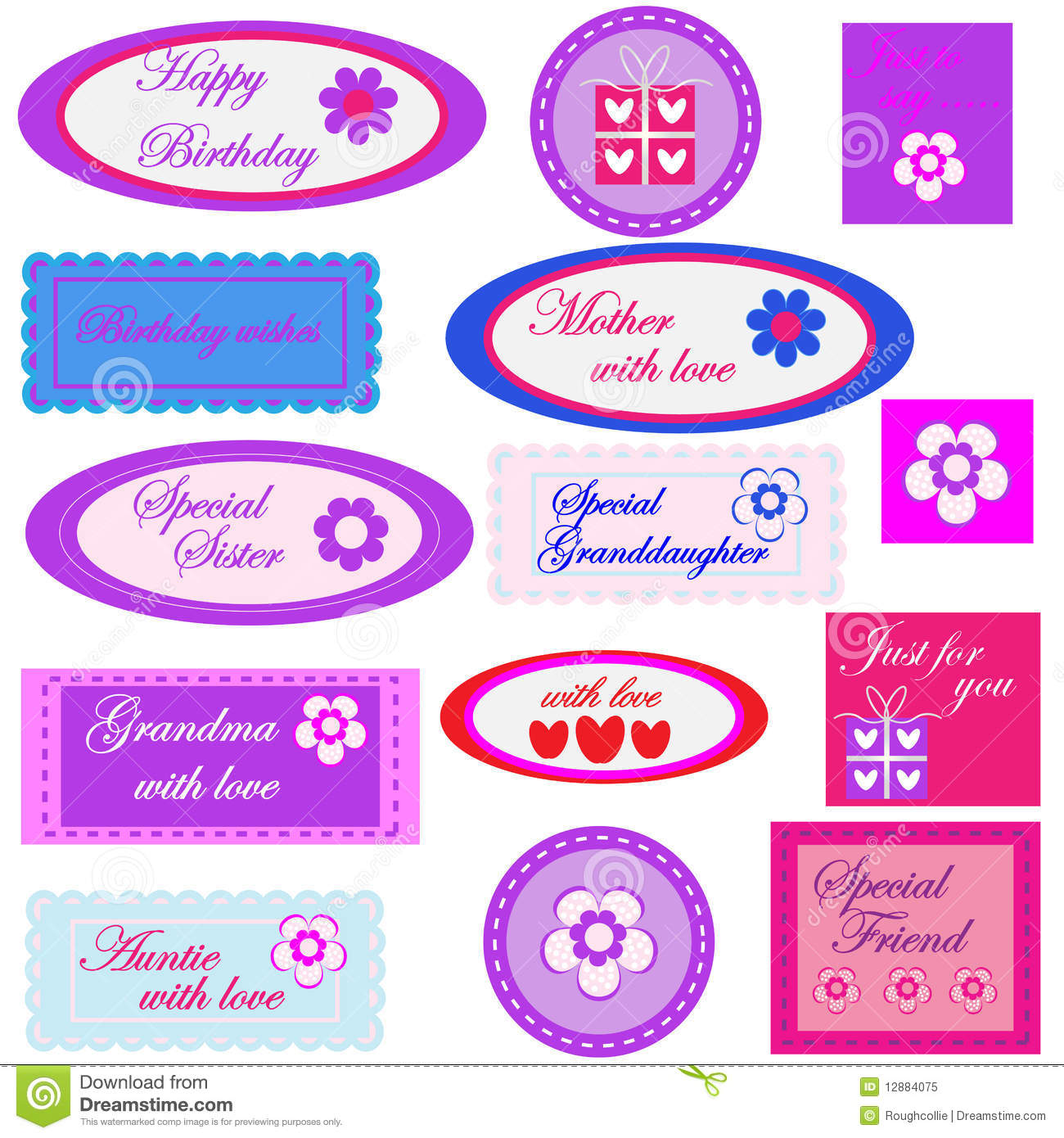birthday favor tags template ; birthday-gift-labels-tags-12884075