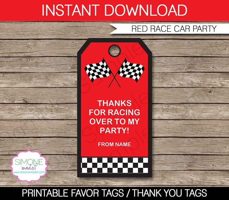 birthday favor tags template free ; Race-Car-party-favor-tags-template