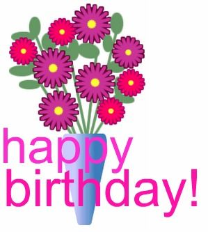 birthday flowers clipart ; 1068560