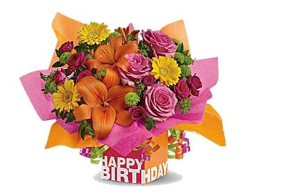 birthday flowers clipart ; 23016-9-birthday-flowers-bouquet-clipart