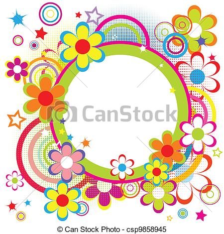 birthday frame clipart ; happy-frame-for-kids-with-circles-clipart-vector_csp9858945