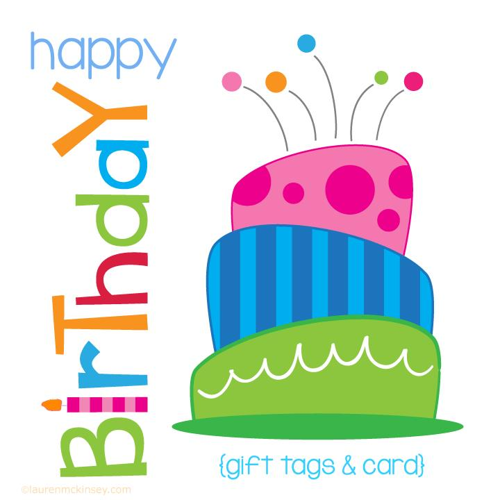 birthday gift labels ; birthday-cake-gift-tags-and-card_complete-collection