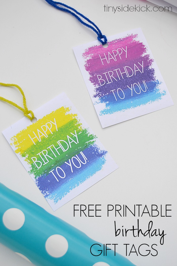 birthday gift labels ; free-printable-birthday-gift-tags