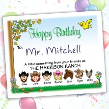 birthday gift labels ; nature-happy-birthday-gift-labels