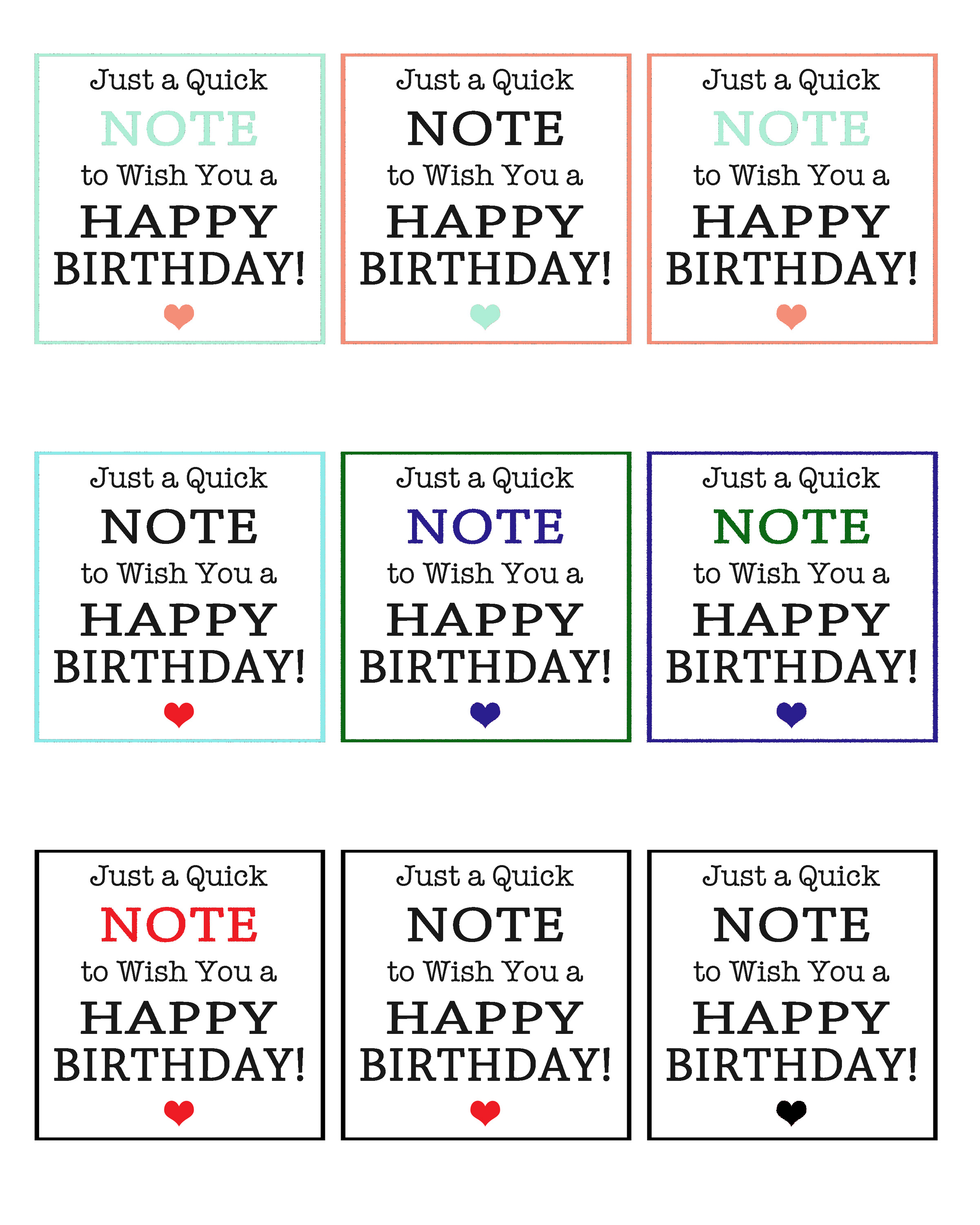 birthday gift labels printable ; Birthday-Note-Tags