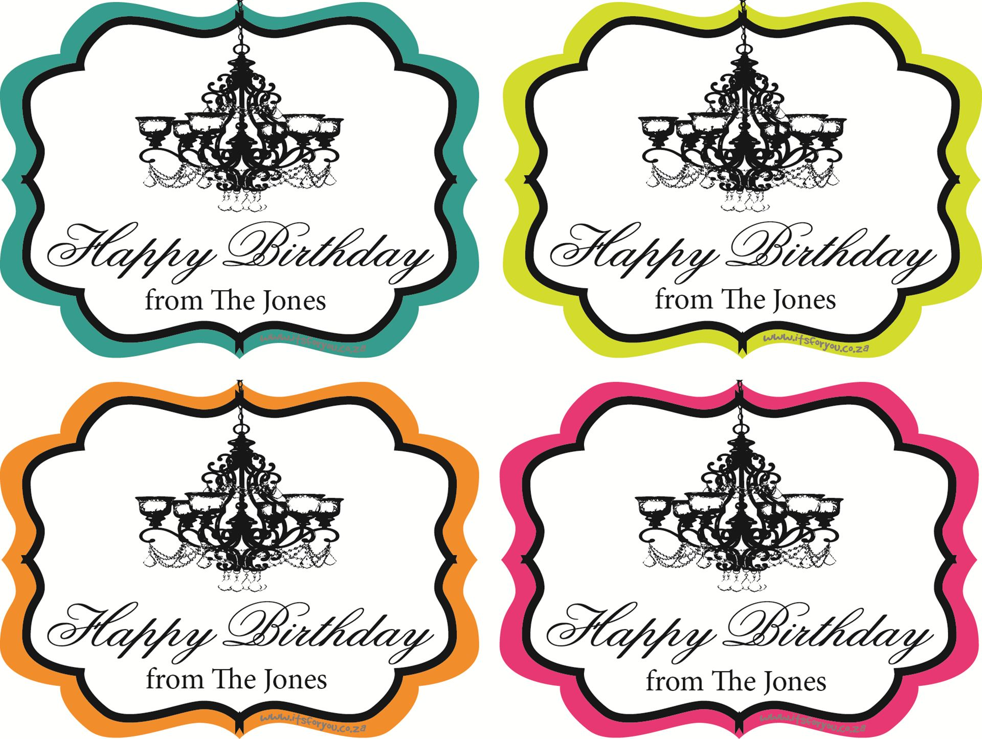 birthday gift stickers ; 0001768_gift-sticker-happy-birthday-chandelier-framed