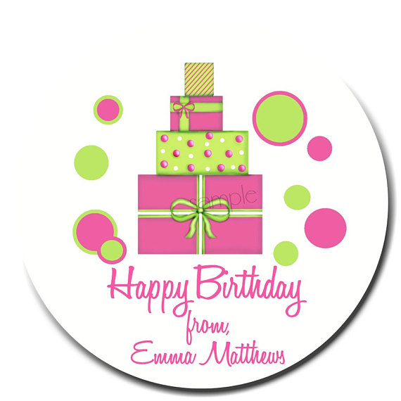 birthday gift stickers ; il_570xN