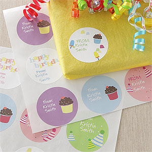 birthday gift stickers labels ; 8681-21027