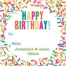birthday gift tag stickers ; GT430-20140254225311