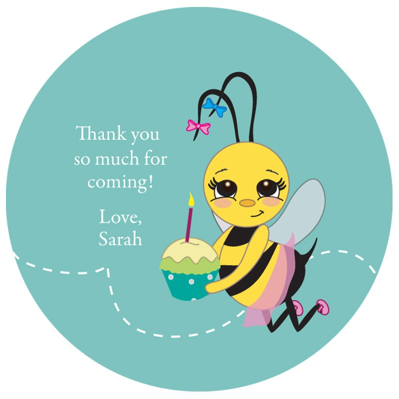 birthday gift tag stickers ; bumble-bee-birthday-custom-gift-tag-stickers_blue
