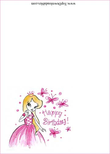birthday gift tag template ; princess-birthday-place-card-72-td