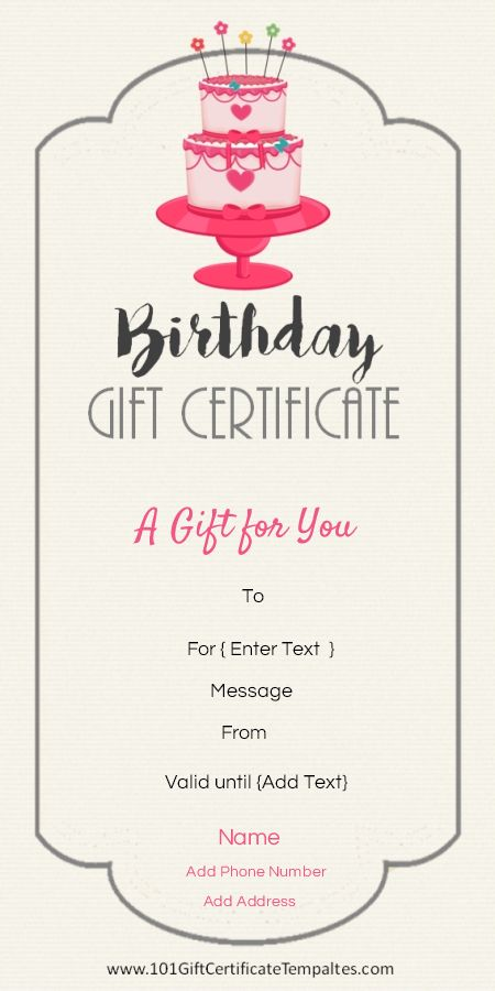 birthday gift tag template for word ; 341e26b1f3f7e465b9794bf37f0890fb--certificate-maker-birthday-certificate