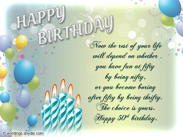 birthday girl greeting card messages ; birthday-greeting-card-rectangle-landscape-blue-balloon-and-candle-picture-50th-birthday-wishes-messages-and-50th-birthday-card-wordings