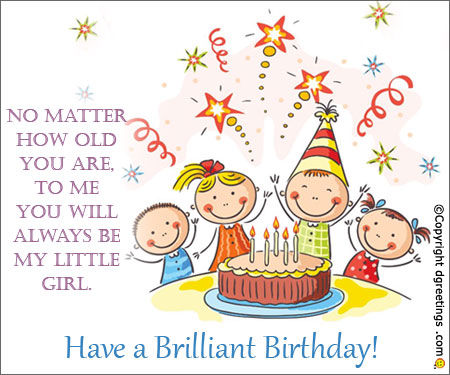 birthday girl greeting card messages ; daughter-birthday-card