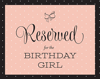 birthday girl sign ; il_340x270