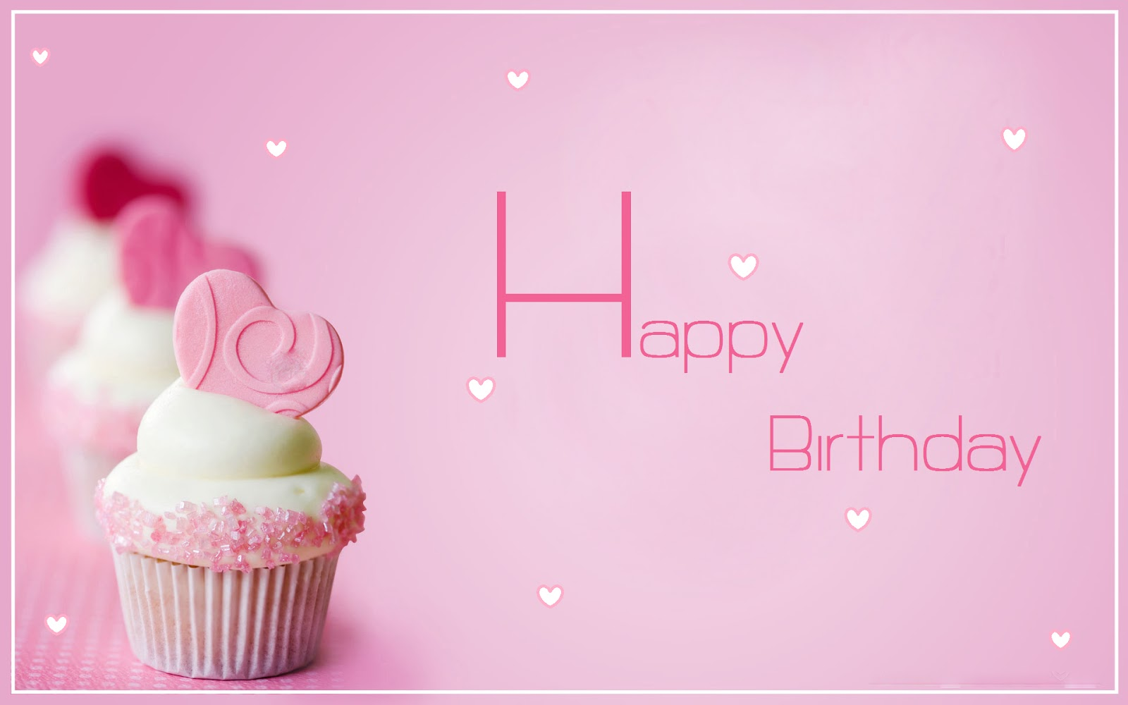 birthday girl wallpaper ; Happy-birthday-pink-background-with-little-hearts-for-girls-image