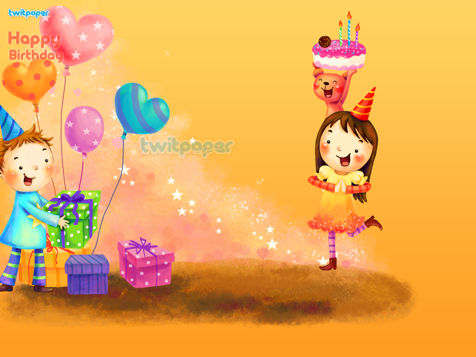 birthday girl wallpaper ; Holidays___Birthday_Happy_girl_gets_birthday_gifts_051897_