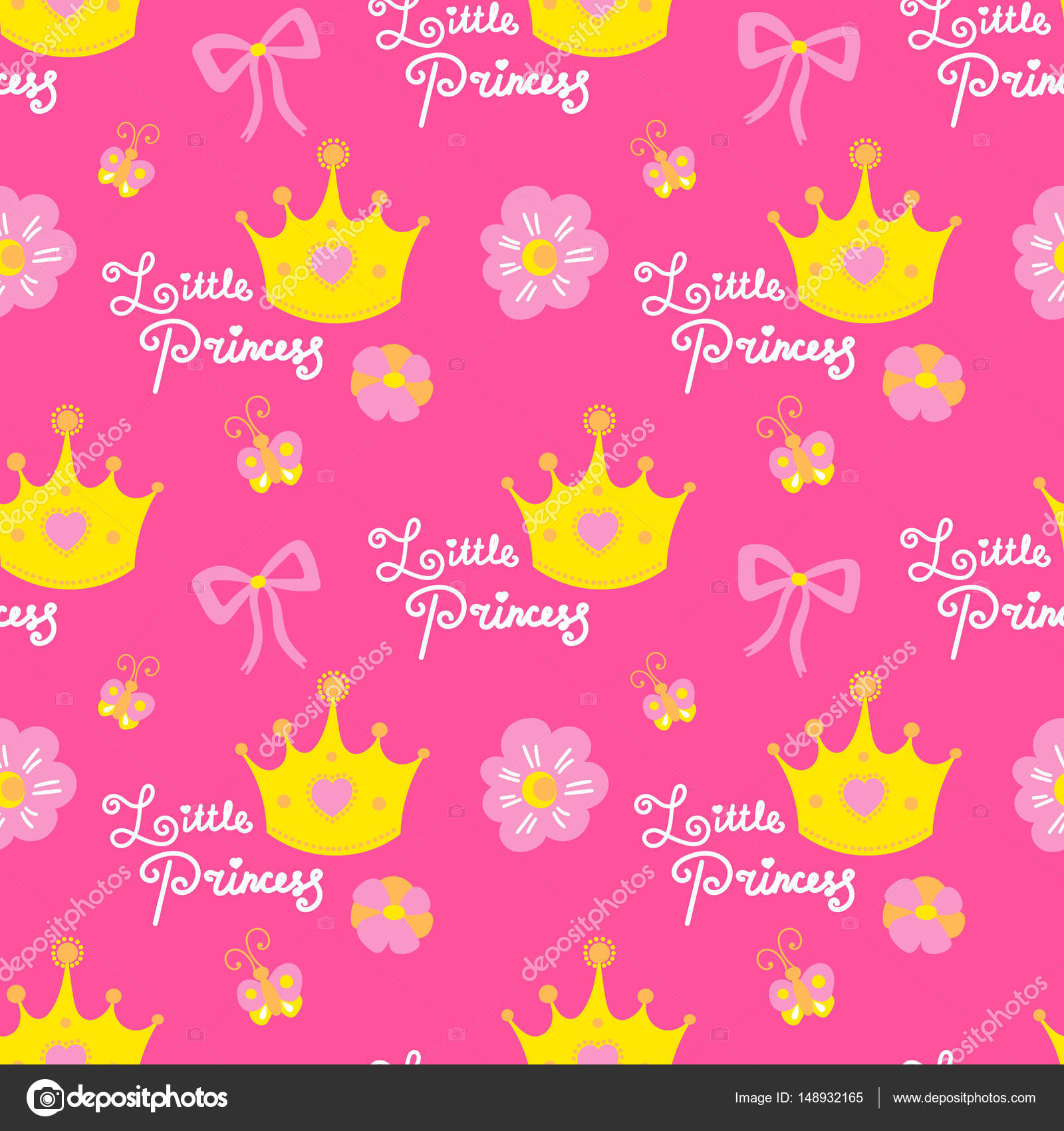 birthday girl wallpaper ; depositphotos_148932165-stock-illustration-little-princess-pattern-vector-pink