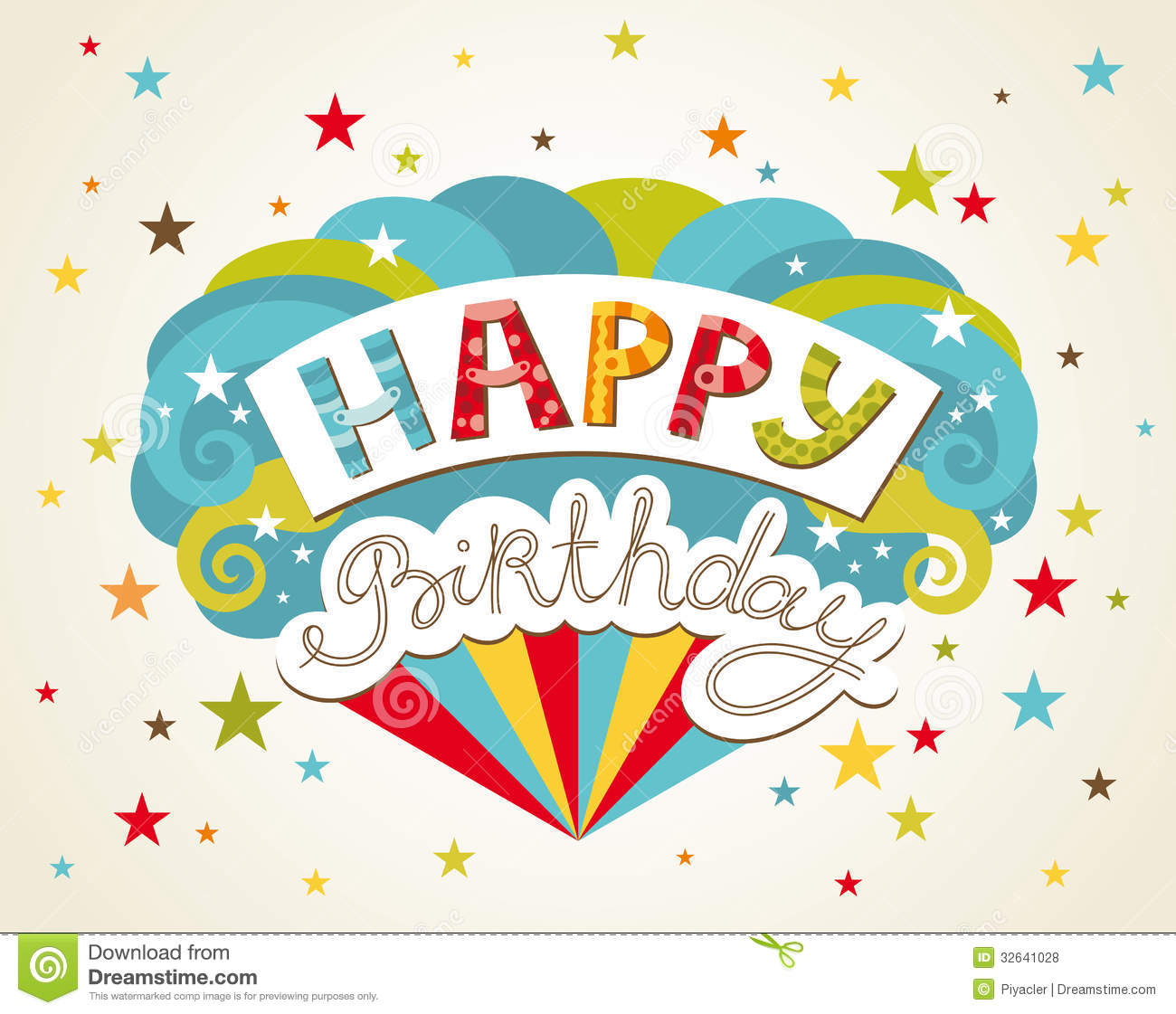 birthday greeting card images free ; happy-birthday-greeting-card-design-vector-illustration-32641028
