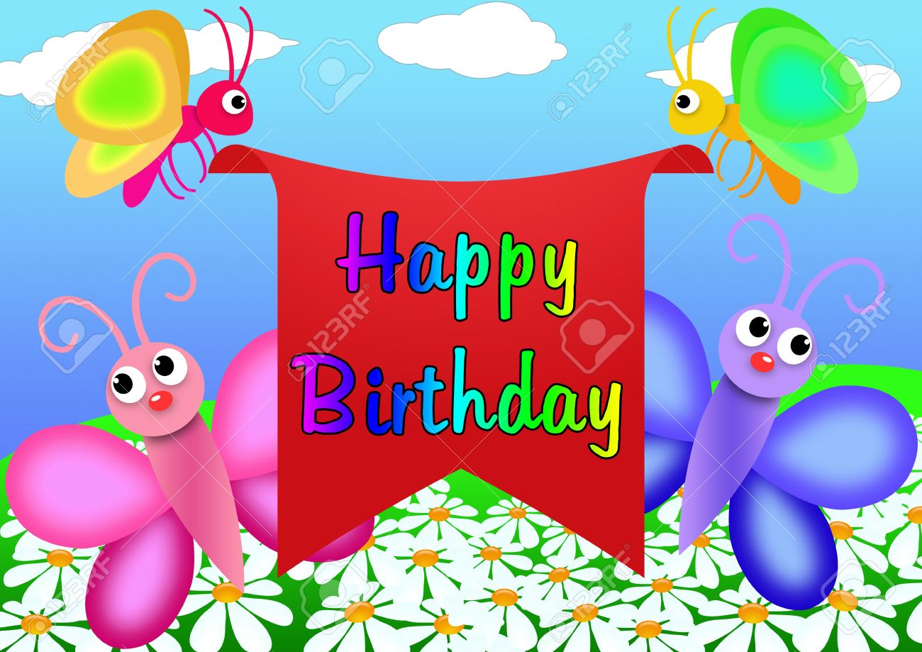 birthday greeting cards drawing ; 9393565-happy-birthday-greeting-card-to-draw-in-cartoon-style