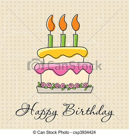 birthday greeting cards drawing ; birthday-greeting-card-eps-vector_csp3934424