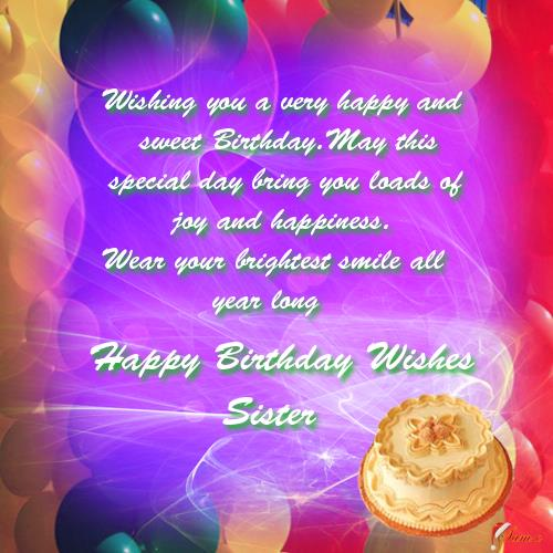 birthday greeting cards images for sister ; 305421