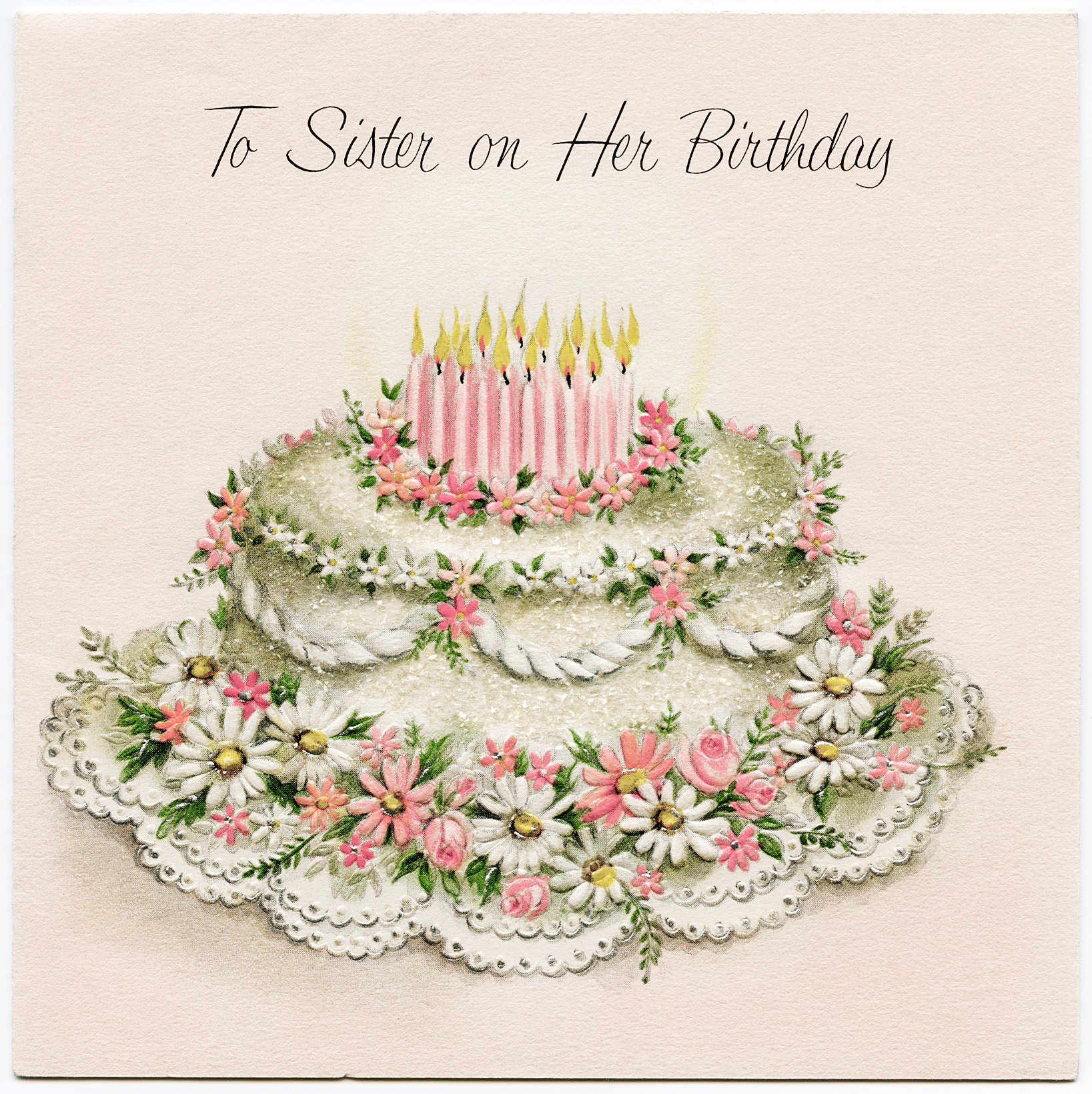 birthday greeting cards images for sister ; OldDesignShop_SisterBirthdayCard