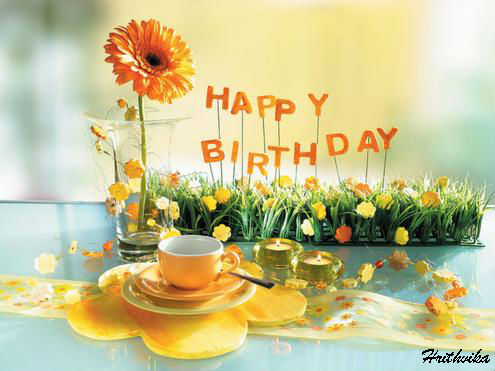 birthday greeting cards images with flowers ; 309005