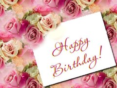 birthday greeting cards images with flowers ; HB-roses