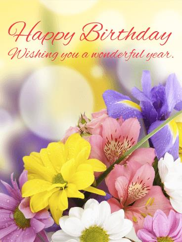 birthday greeting cards images with flowers ; b_day303-90b2b9bce82f548b88a9a48c5cf42689