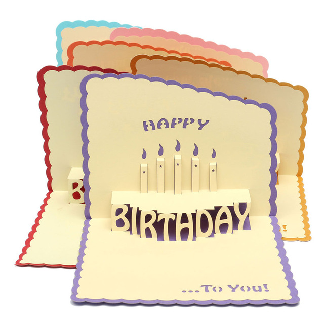 birthday greeting cards with pictures in ; Multicolor-3D-Cards-Handmade-Pop-Up-Greeting-Card-Happy-Birthday-Greeting-Card-Handcrafted-Kirigami-Origami-Gifts