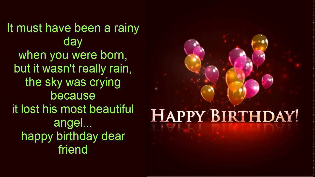 birthday greeting message for girlfriend ; It-must-Have-Been-A-Rainy-Day
