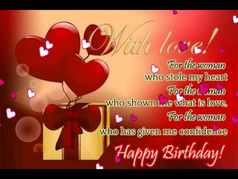birthday greeting message for girlfriend ; hqdefault
