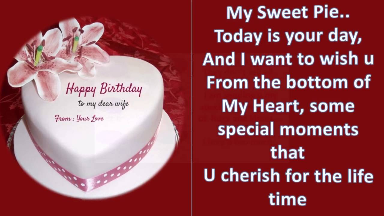 birthday greeting message for wife ; maxresdefault