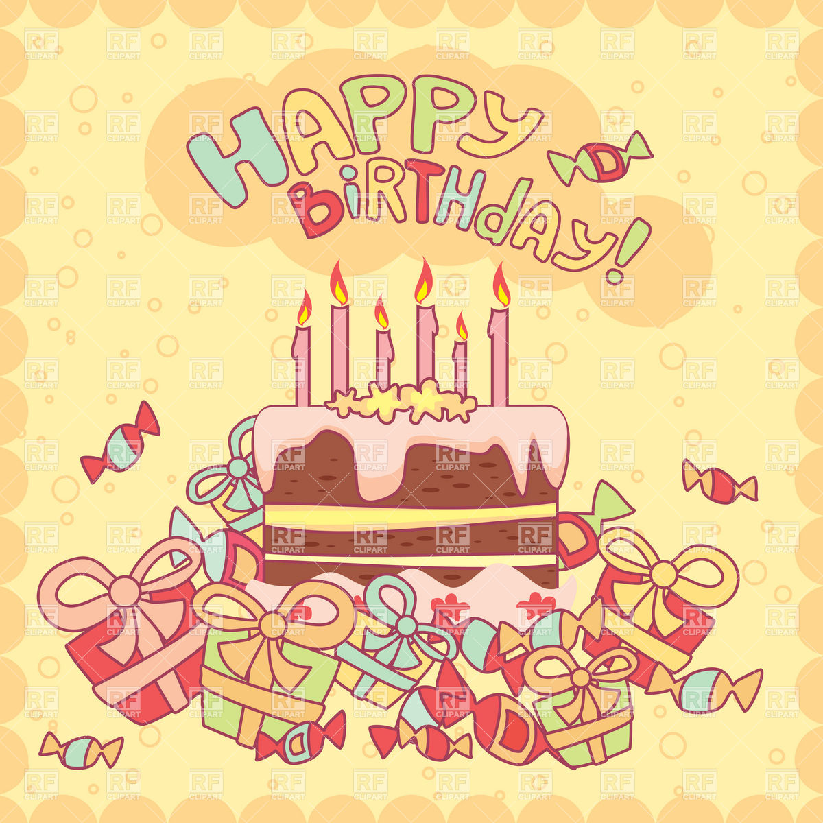birthday greeting pictures free download ; happy-birthday-card-with-cake-candles-and-gifts-Download-Royalty-free-Vector-File-EPS-40109