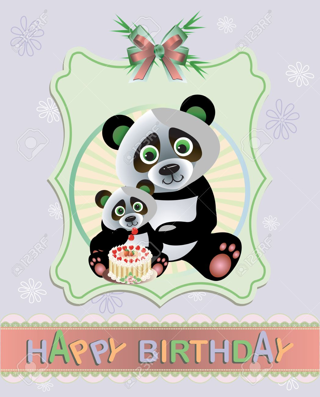 birthday greeting pictures funny ; 21732039-funny-panda-birthday-greeting-card