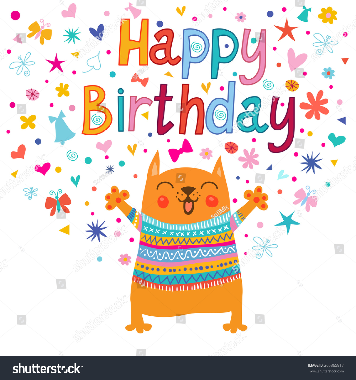 birthday greeting pictures funny ; stock-vector-birthday-greeting-with-funny-animals-265365917