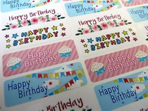 birthday greeting stickers ; s-l300