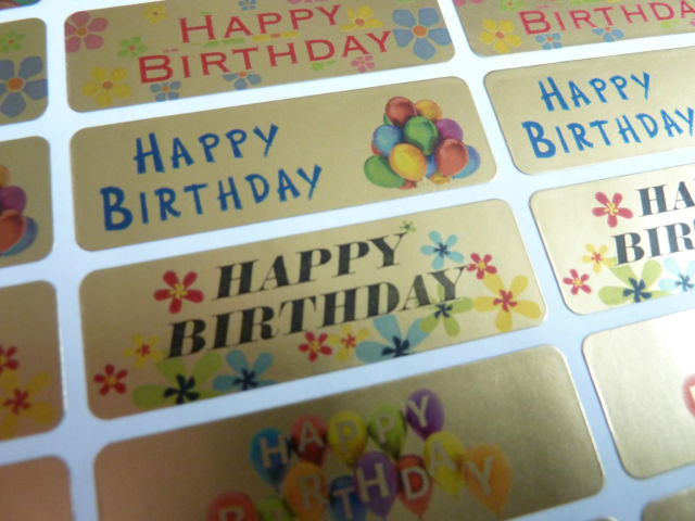 birthday greeting stickers ; s-l640