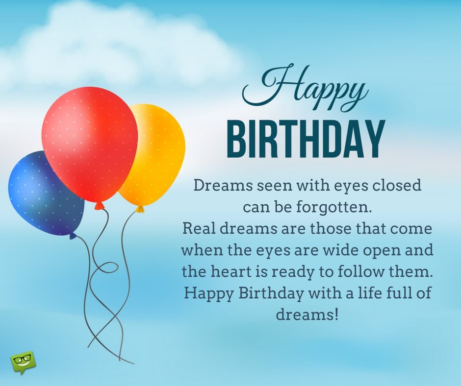 birthday greetings and messages ; Birthday-wish-with-inspirational-quote-on-pic-with-balloons